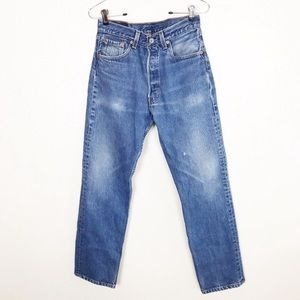 501 Vintage Levi's   High Waisted Jeans 27-28